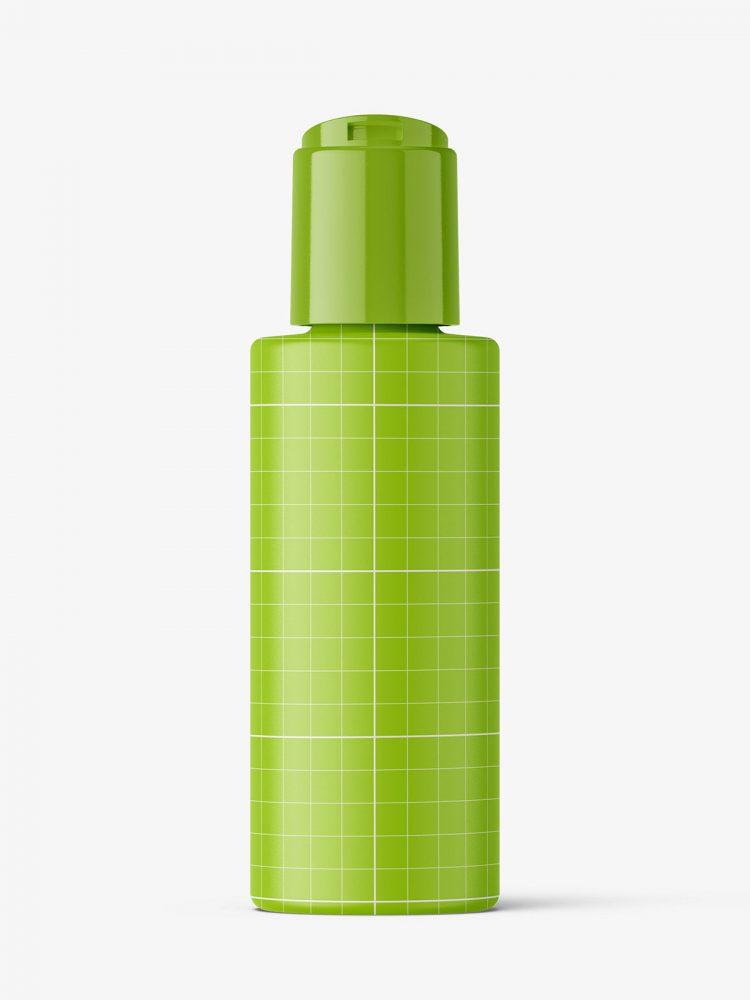 Bottle with disctop mockup / matt