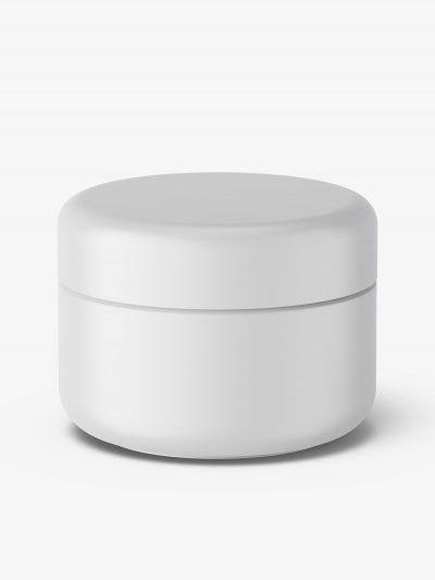 Cosmetic plastic cream jar mockup / matt