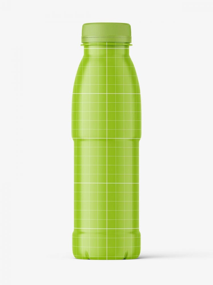 Red juice bottle mockup