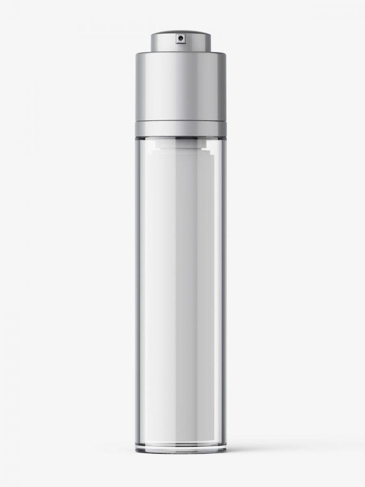 Airless twist up bottle mockup / 50 ml