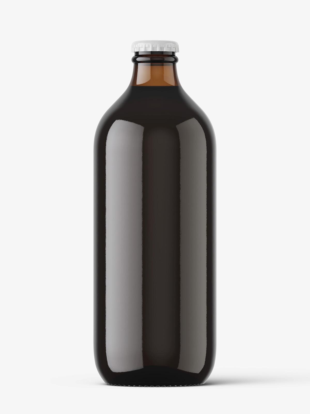Download Dark beer bottle mockup - Smarty Mockups Free Mockups