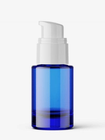 Blue airless bottle mockup