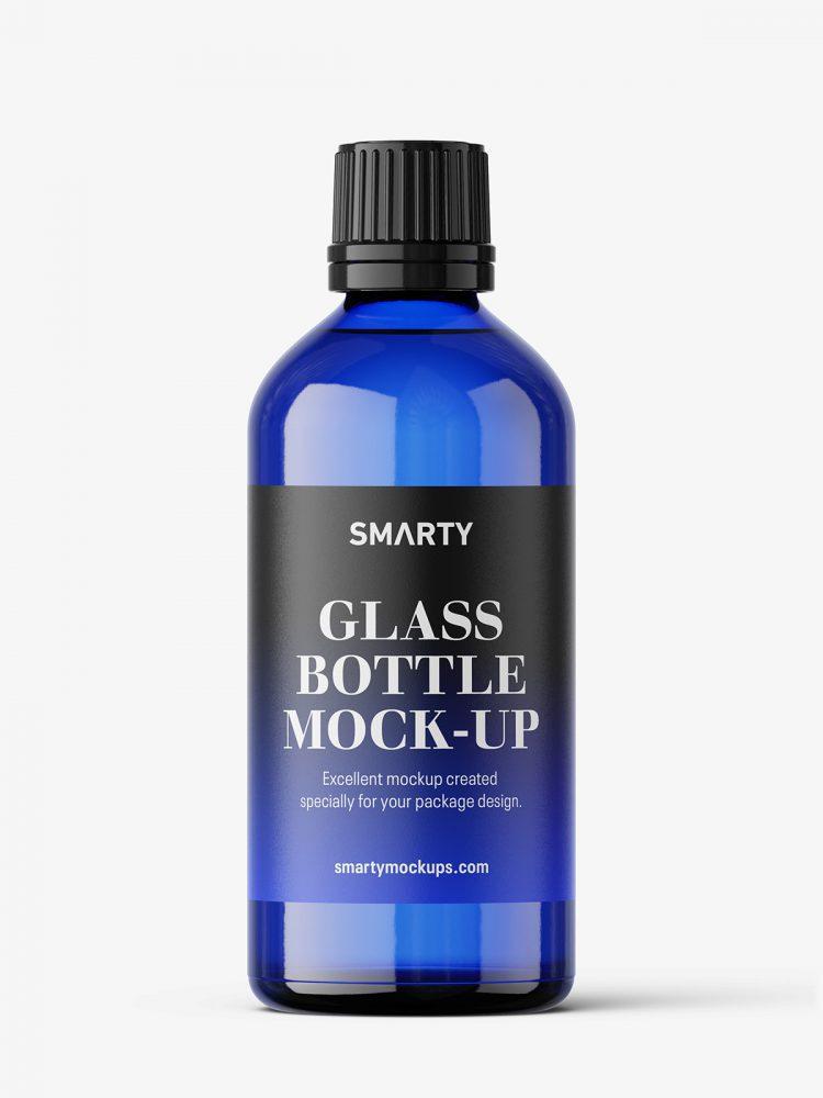 Blue bottle mockup / 100 ml