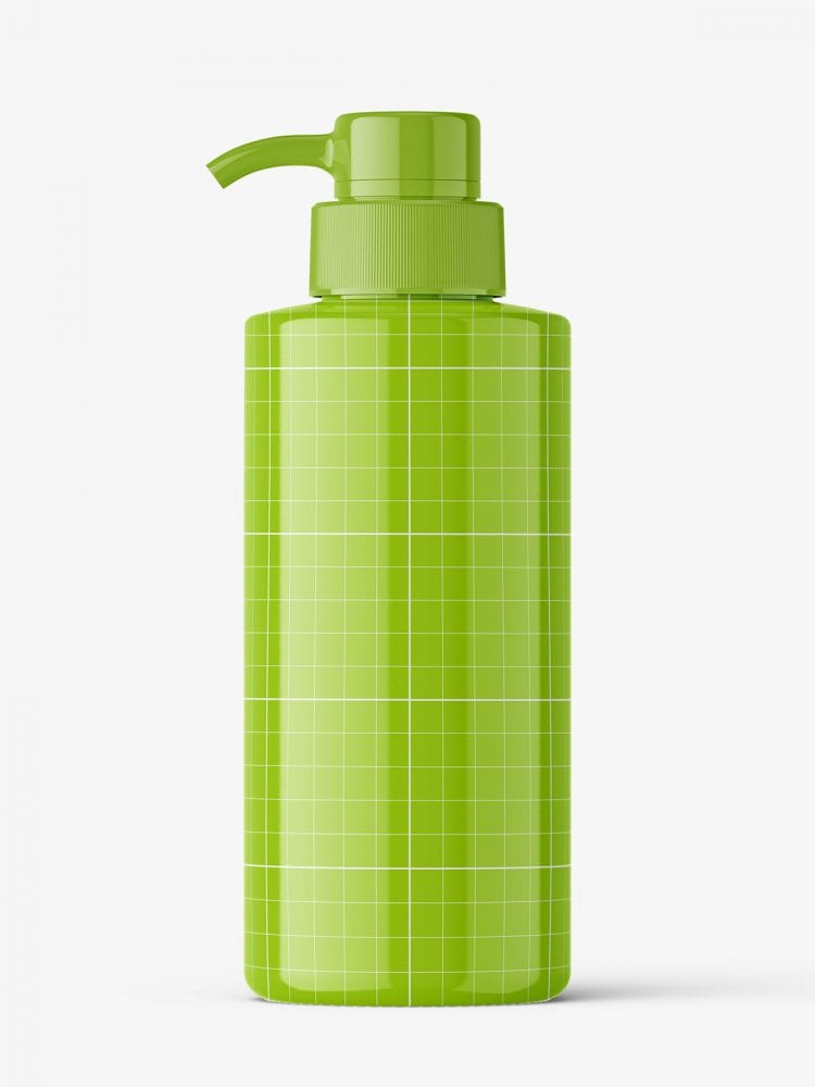 Universal pump bottle mockup / glossy