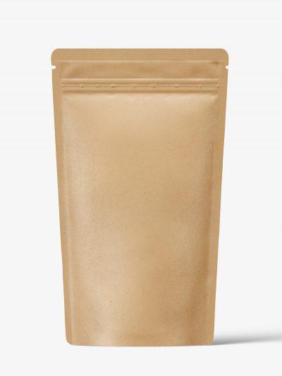 Kraft paper pouch mockup