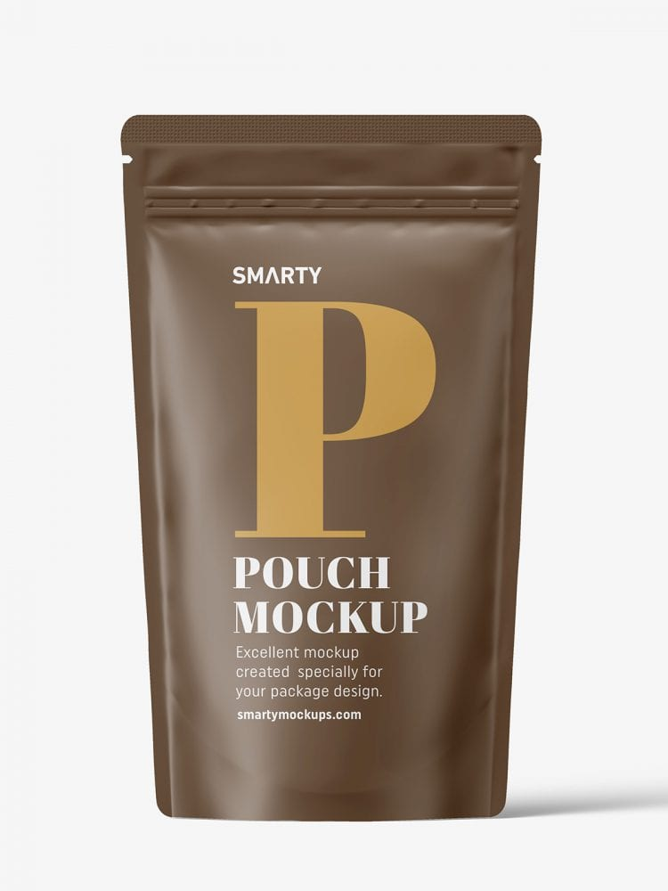 Matt paper pouch mockup