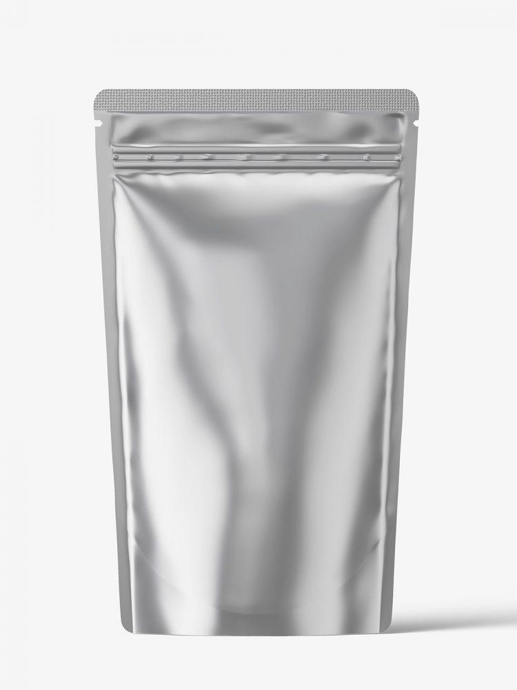 Metallic pouch mockup