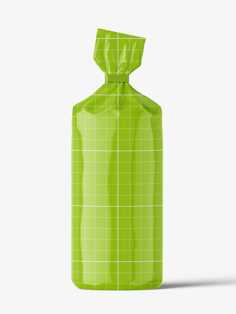 Round food bag mockup / glossy