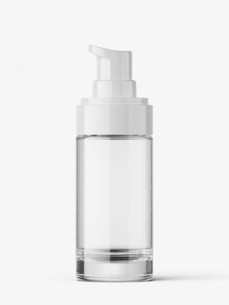 Transparent airless bottle mockup