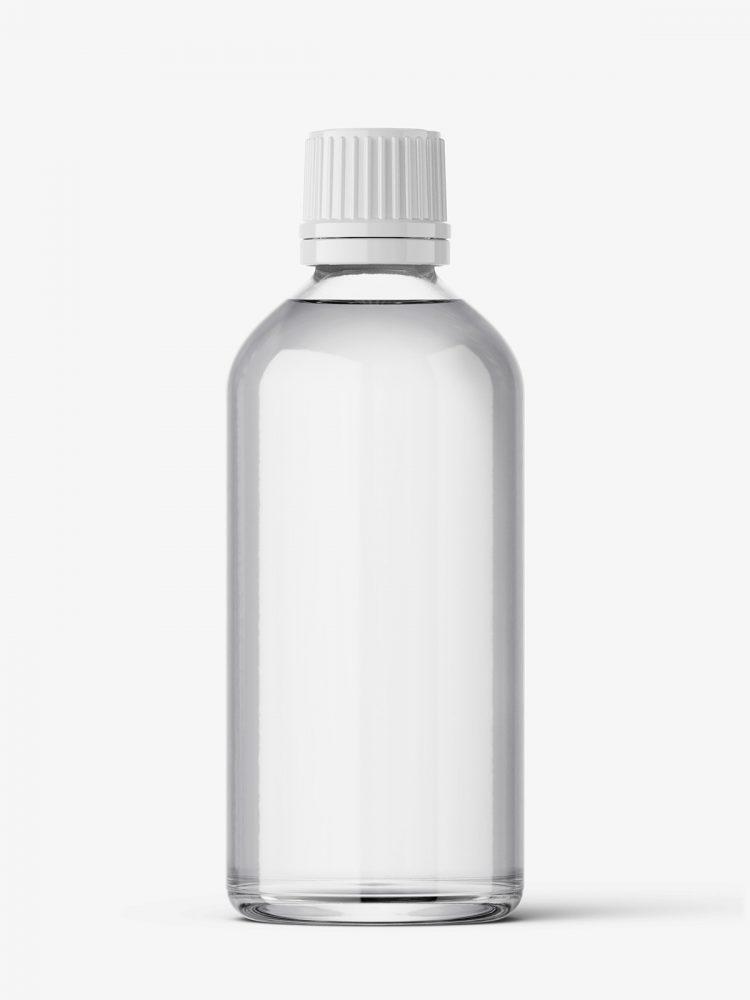 Transparent bottle mockup / 100 ml