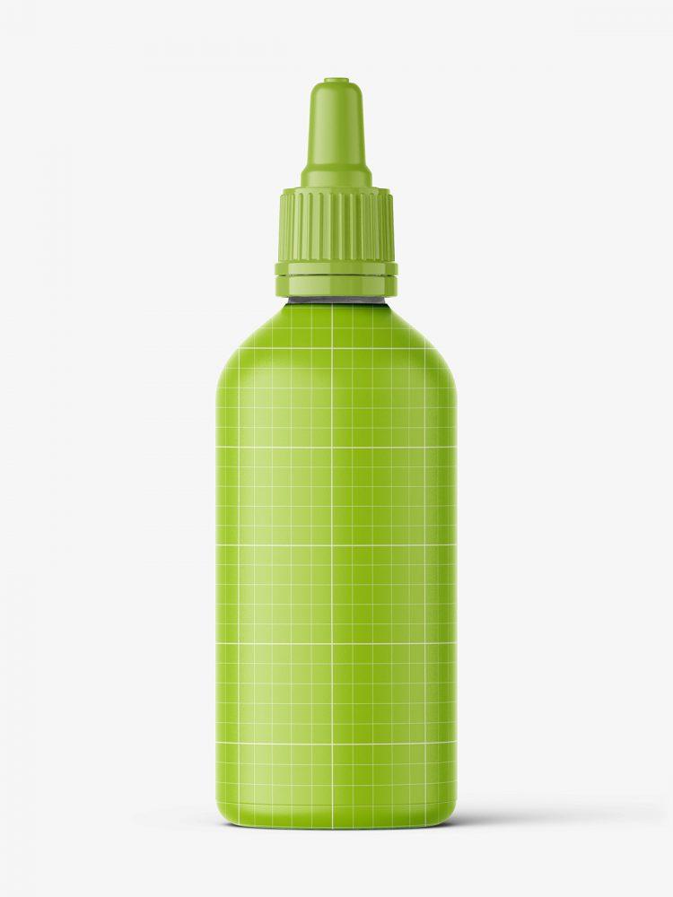 Transparent dropper bottle mockup / 100 ml
