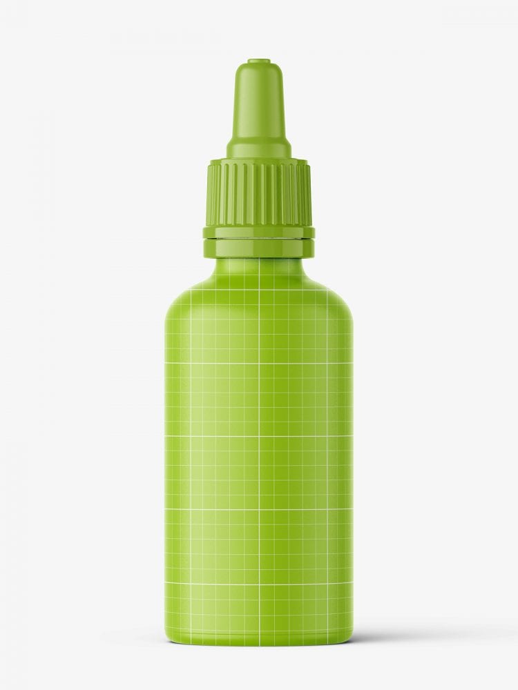 Transparent dropper bottle mockup / 30 ml