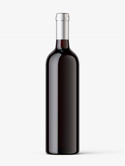 Wine bottle mockup