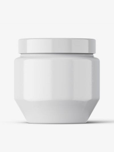 Cosmetic glass jar mockup