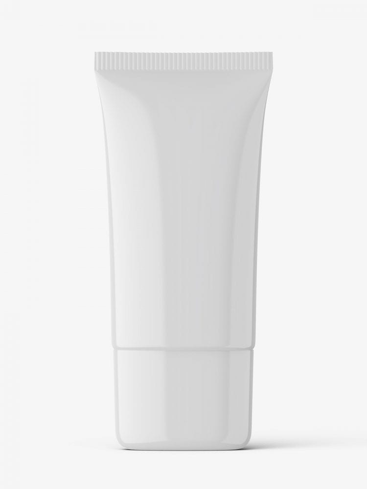 Glossy wide tube mockup