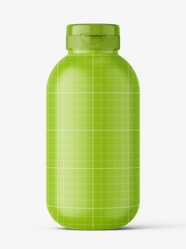 Cosmetic matt bottle mockup