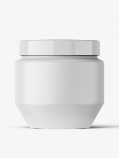 Cosmetic matt jar mockup