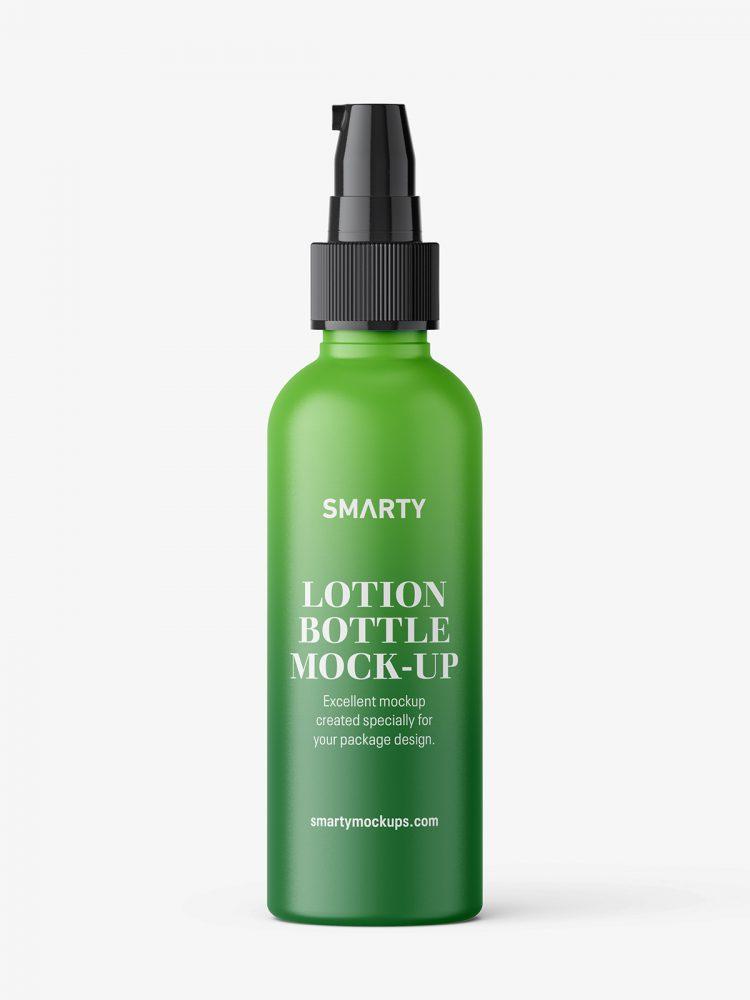 Matt lotion pump bottle mockup