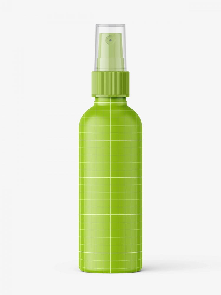 Matt mist spray bottle mockup