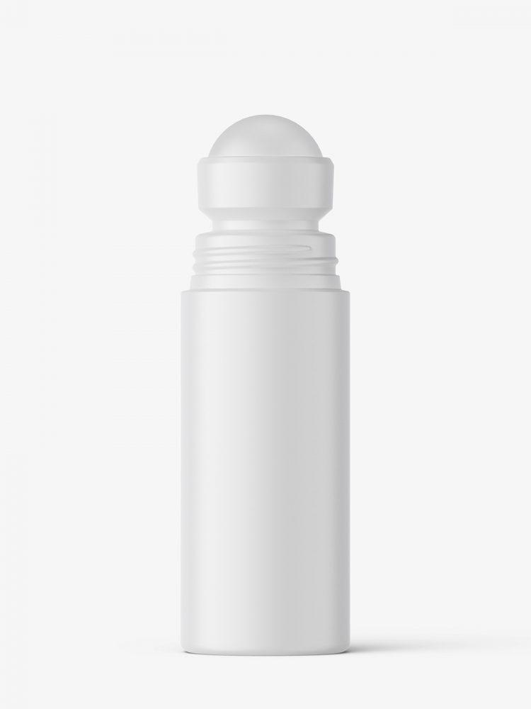 Matt roll-on bottle mockup