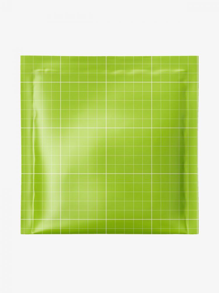 Square sachet mockup / matt