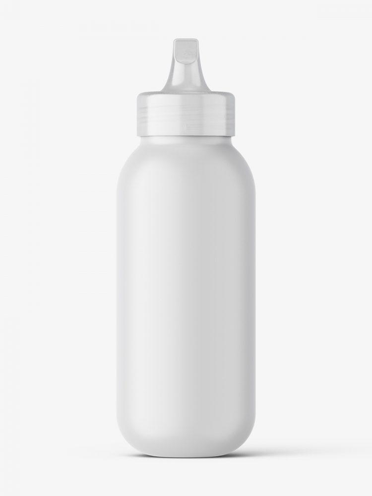 Matt bottle with spout cap mockup