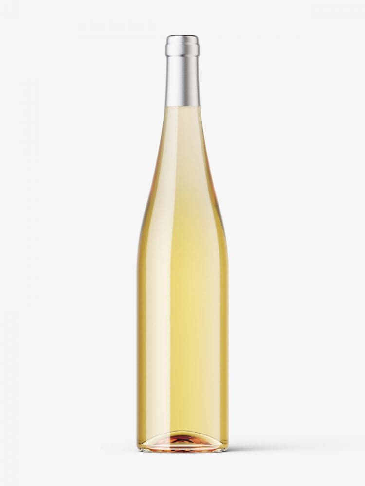 White wine bottle mockup