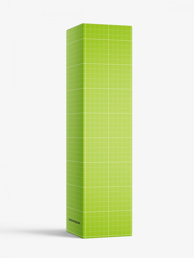 Box mockup / 45x180x45 mm / white - metallic - kraft
