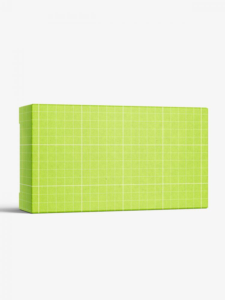 Box mockup / 90x55x25 mm / white - metallic - kraft