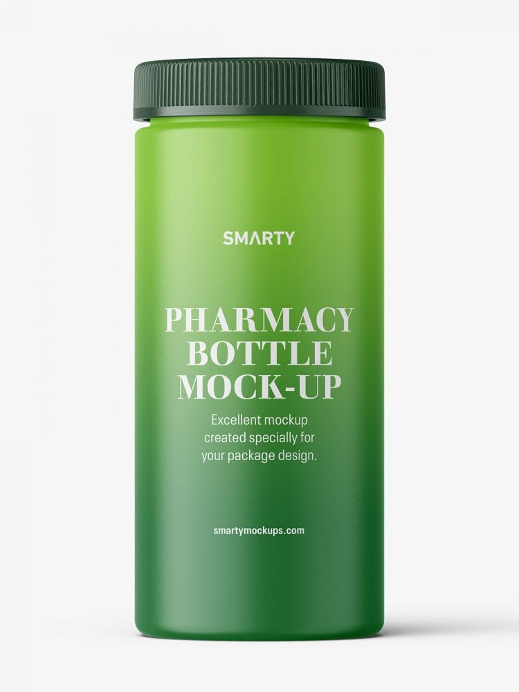 Pharmacy botte mockup / 60ct / Matt