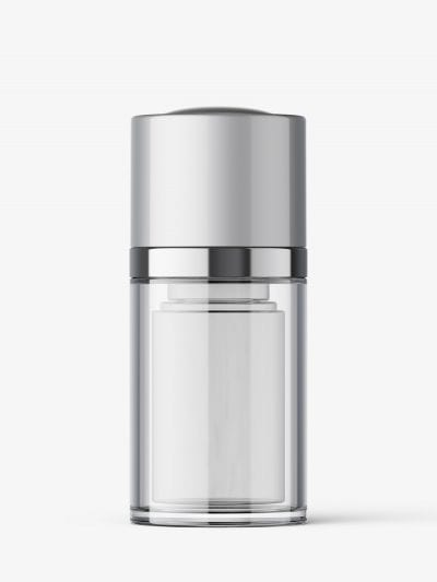 Airless twist up bottle mockup / 15 ml
