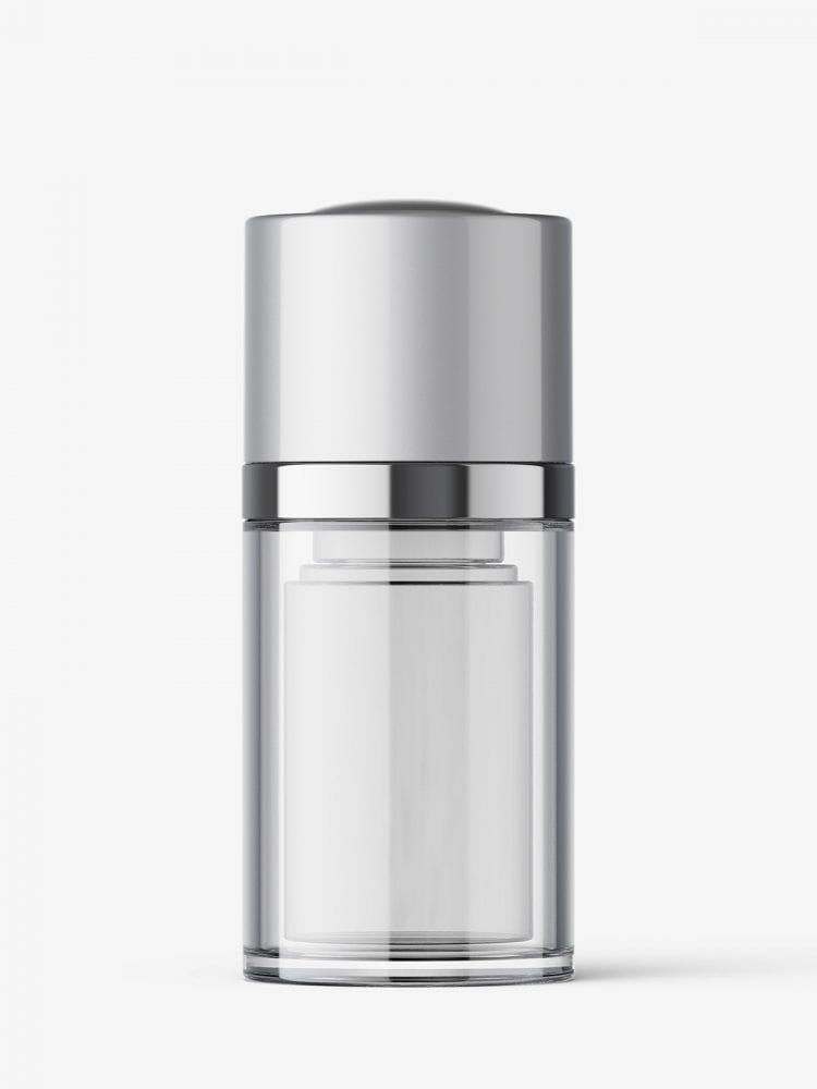 Airless twist up bottle mockup / 15 ml