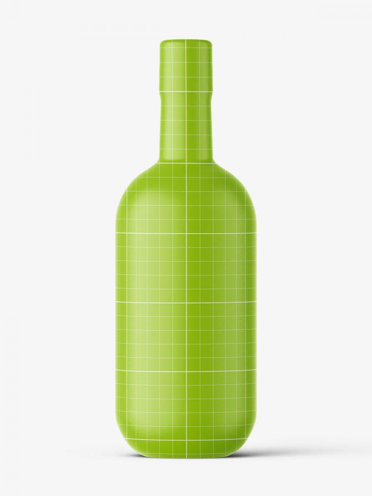 Amber vodka bottle mockup