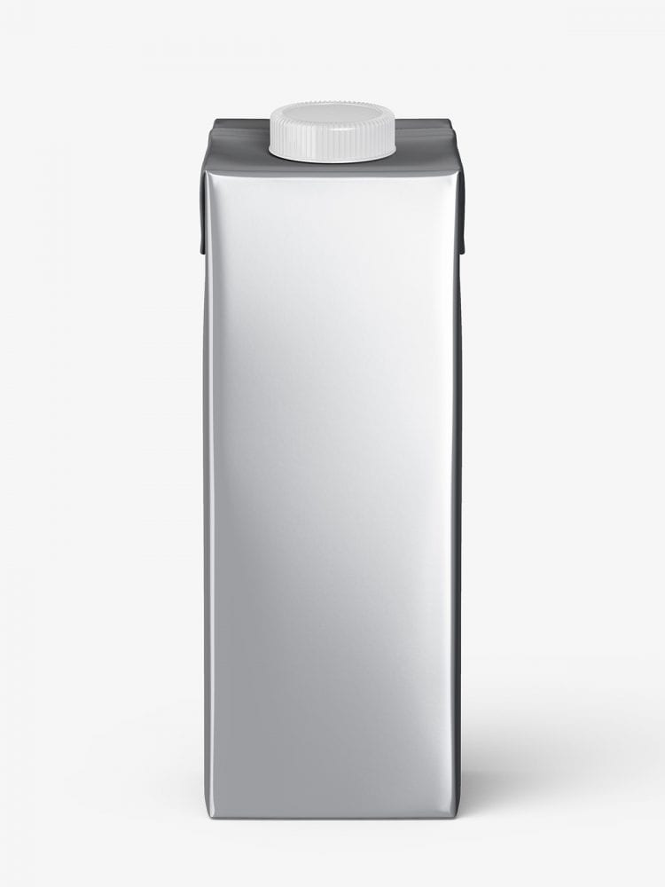 Carton juice mockup / front / metallic
