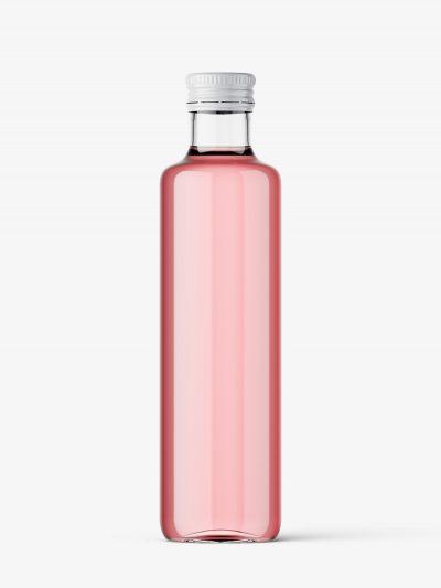 Clear juice bottle mockup