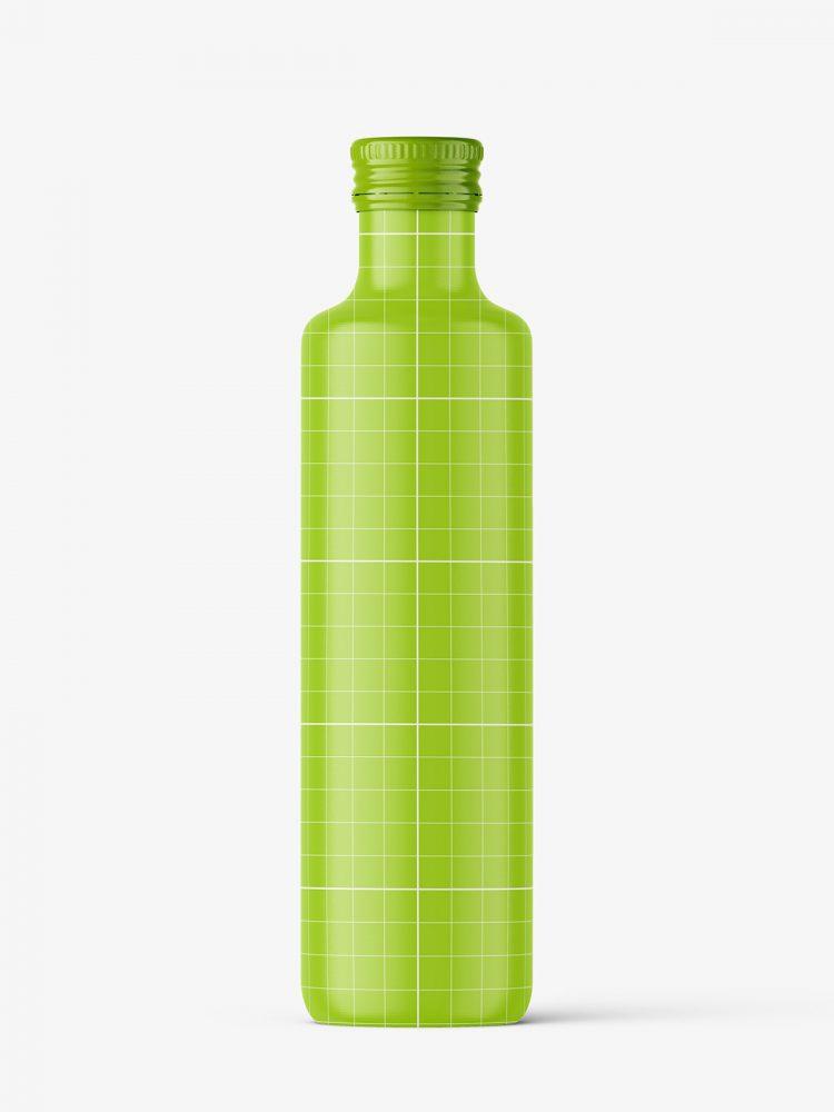 Green juice bottle mockup