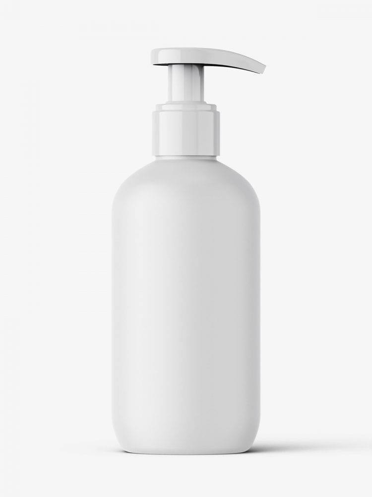 Matt bottle with pump mockup / 250 ml