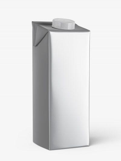 Carton juice mockup / metallic