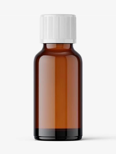 Amber pharmaceutical jar with secure cap / 20 ml