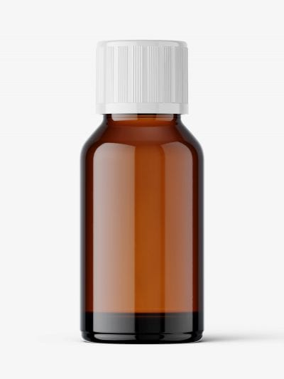Amber pharmaceutical jar with secure cap / 30 ml