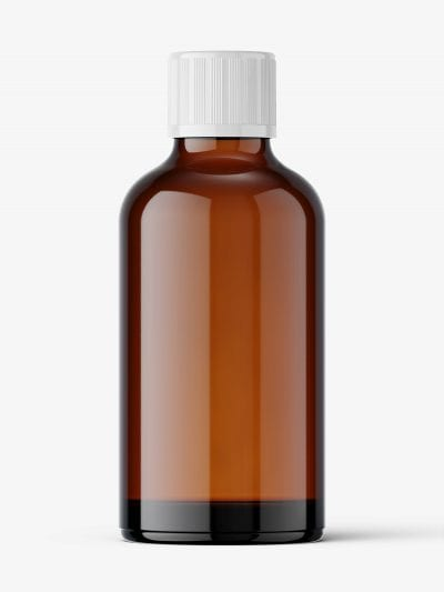 Amber pharmaceutical jar with secure cap / 50 ml