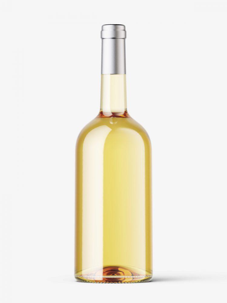 White wine bottle mockup