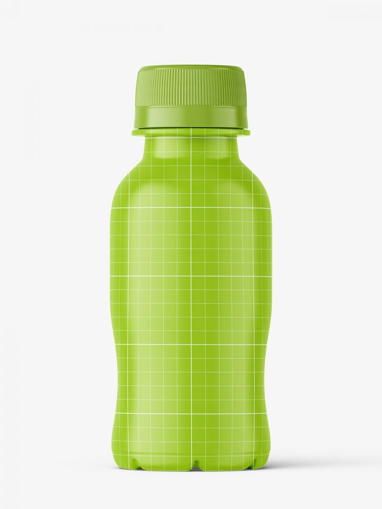 Small apple juice bottle mockup