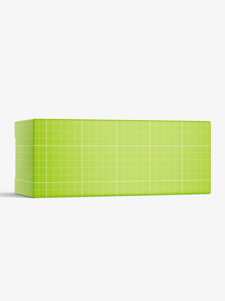 Box mockup / 110x45x45 mm / white - metallic - kraft