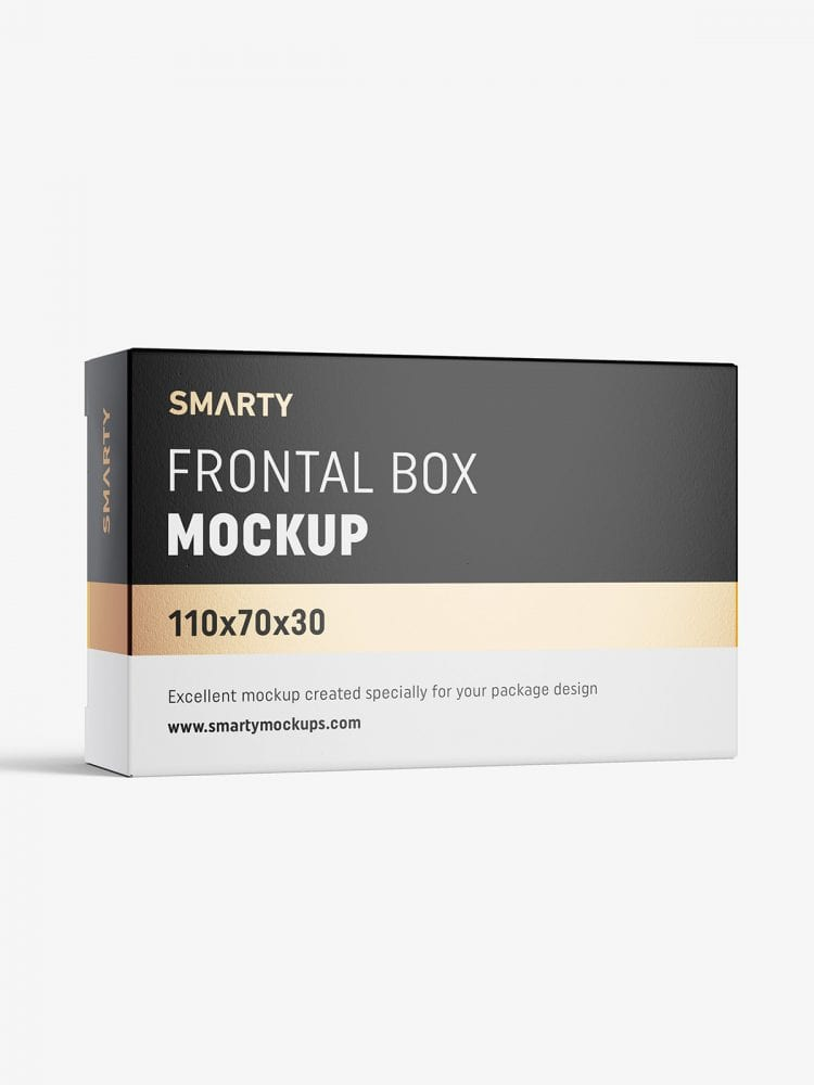 Box mockup / 110x70x30 mm / white - metallic - kraft