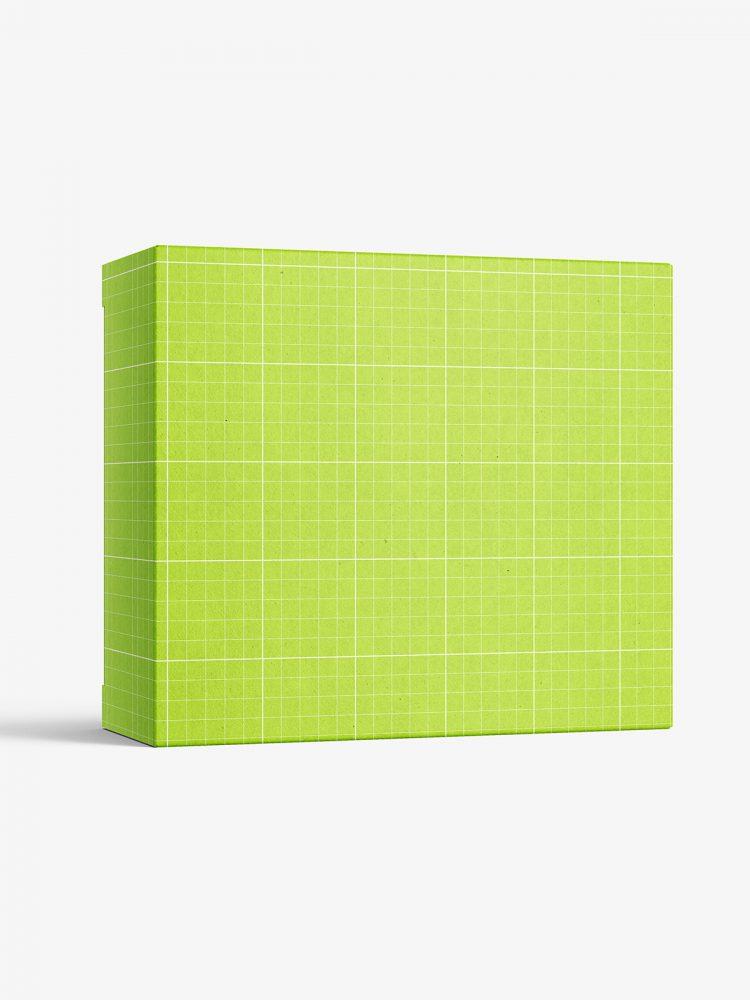 Box mockup / 120x105x45 mm / white - metallic - kraft