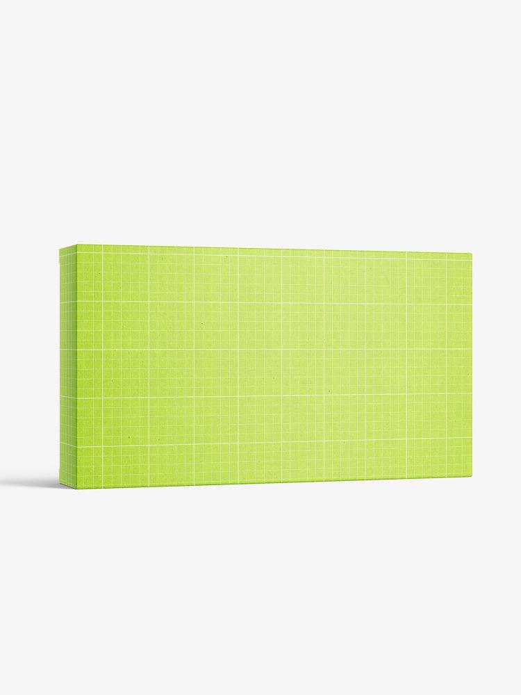 Box mockup / 290x160x50 mm / white - metallic - kraft