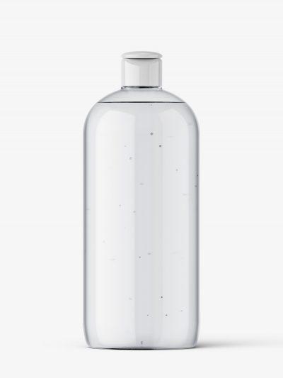 Clear bottle mockup with flip top mockup