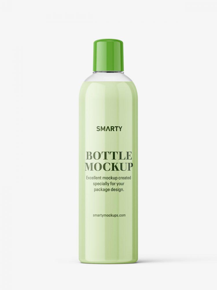 Cream bottle mockup with rounded screwcap mockup