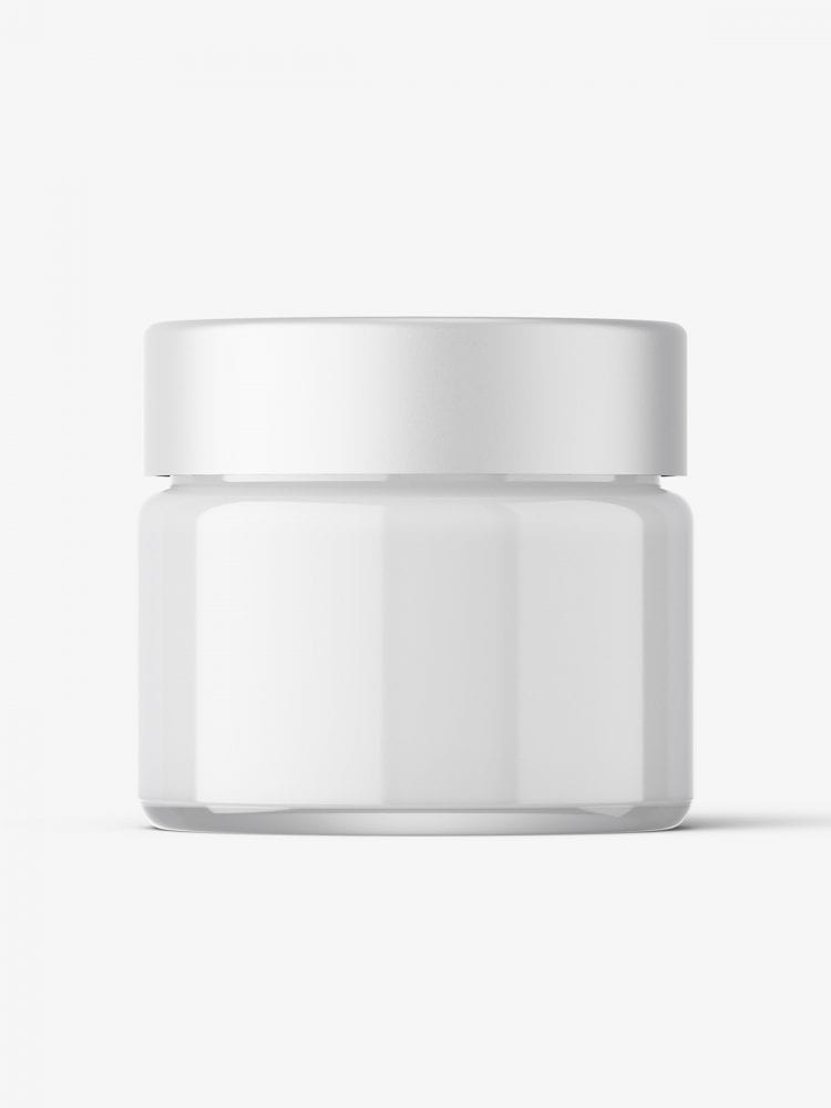 Cosmetic jar mockup with cap / 15ml / cream